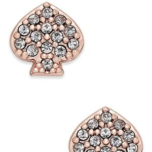 kate spade Pavé Signature Spade Stud Earrings